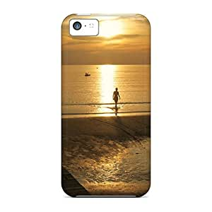 Awesome Design Sunset On A Beach Hard Case Cover For Iphone 5c