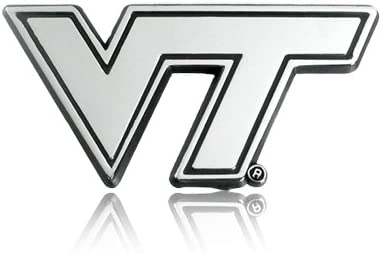 Virginia Tech Chrome Metal Car Emblem