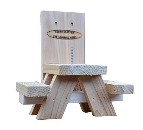 Picnic Table Squirrel Feeder - Squirrel Ear Corn Holder