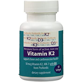 Pronordic's Pure Non-soy (not from Natto), All Bioactive Mk-7, Vitamin K2, Menaquinone with Vitamin D3, Price adjusted due to overstock---Take advantage!