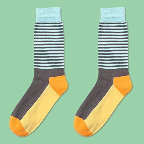 Unisex Stripe Socks,kaifongfu Cotton Socks Multi-Color Women's Men's Winter Socks (free size, Orange)