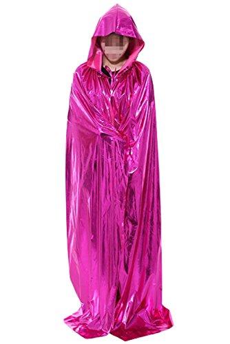 Obi Wan Kenobi Costume Pattern (LETSQK Adult Full Length Cloak with Hood Role Cape Cosplay Halloween Costumes Rose)