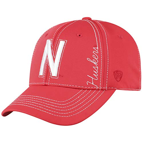 Top of the World Nebraska Cornhuskers Official NCAA One Fit Learning Curve Hat Cap 451114