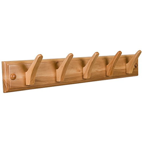 tibres-wall-coat-hook-rack-100-solid-wood-5-decorative-wooden-pegs-for-clothes-hats-and-towels-mount