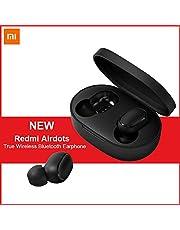 Xiaomi Redmi Airdots, TWS Bluetooth 5.0 Écouteurs Stéréo Bass Wireless Headphone 300mAh Boîte de Charge True Stereo Sound Mini Écouteurs sans fil Écouteurs Bluetooth Anti-Transpiration IPX4 avec Micro