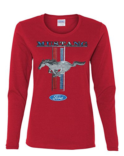 Ford Mustang Classic Women's Long Sleeve T-Shirt Red S (Mustang Red T-shirt)