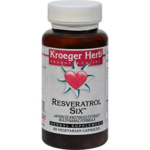 Kroeger Herb Resveratrol Six Herbal 60 Cap by Kroeger Herb Products