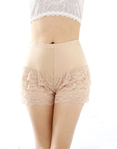Womens Tiered Crochet Stretch Shorts