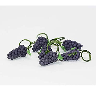 Dollhouse Miniature Six Bunches of  Grapes: Toys & Games [5Bkhe2006209]