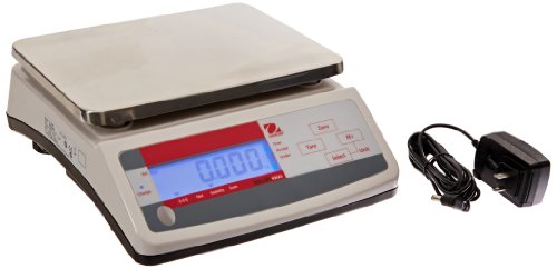 Ohaus V11P6T Valor Compact Precision Scale with Dual Display, 6,000g Capacity, 1g Increments, ABS Plastic