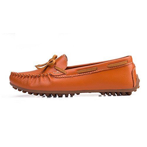 Wear Shoes Orange Shoes Comfortable Flat Casual Indoor Soft Bean Yangjiaxuan Women's Surface Activities Sz4SxYw