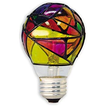ge lighting 46645 25 watt stained glass light bulb incandescent