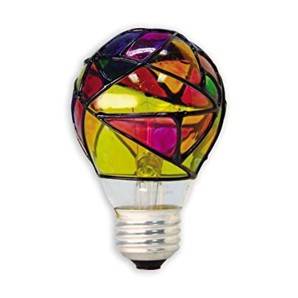 Ge Lighting 46645 25 Watt Stained Glass Light Bulb