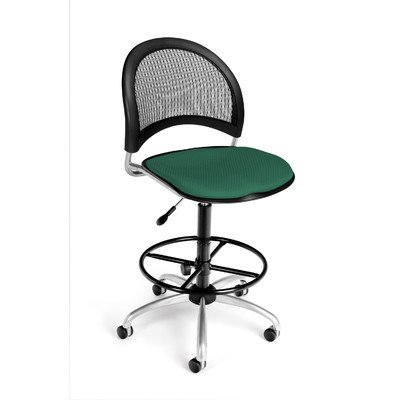 OFM 336-V-AA3DK-605 Moon Swivel Vinyl Chair with Arms and Dr