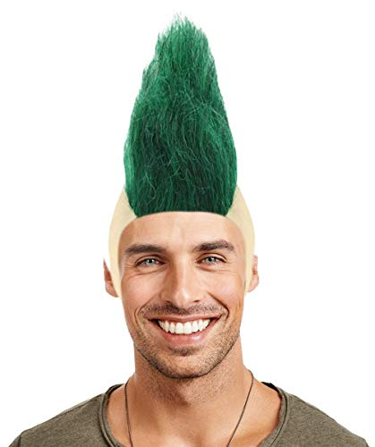 Halloween Party Online Mohawk Wig, Green Adult HM-322A ()