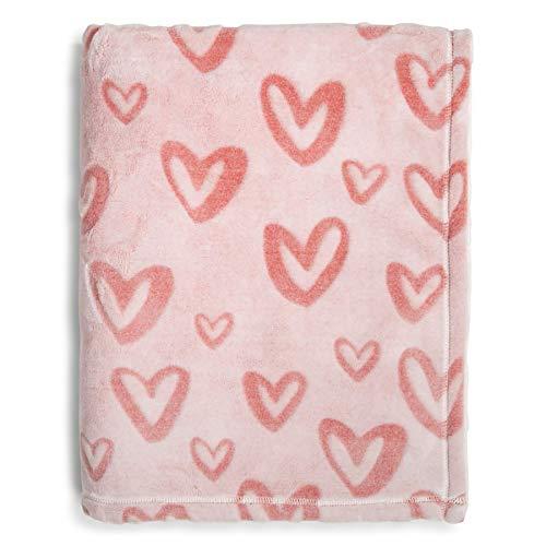 (Vera Bradley Women's Throw Blanket, Hearts Pink)