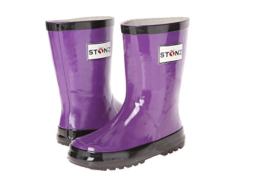 Rubber Ducky Rain Boot - Stonz Natural Rubber Rain Boot (Toddler/Little Kid/Big Kid), Purple, 12T