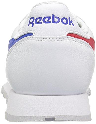 Reebok - Cl Leather So da uomo White/Vital Blue/Primal Red/Lgh Solid Grey