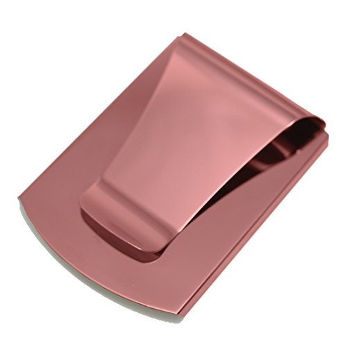 Storus Smart Money Clip-Double Sided Money Clip-Stores Cards On One Side and Cash On the Other Side-Stainless Steel with Pink Finish (1 piece per package) PATENTED (Breast Cancer Mosaic)