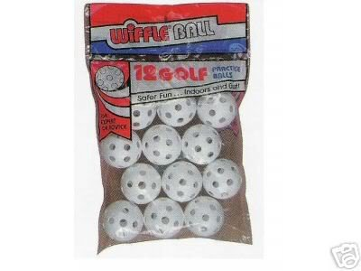 Wiffle Plastic Perforated Golf Balls 36 Pack