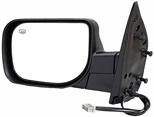 APDTY 0662850 Left Side Driver View Mirror Assembly Chrome, Heater, Powered Fits Select 2004-2014 Nissan Pathfinder, Armada, Titan (Replaces 963027S200, 96302ZC20A)