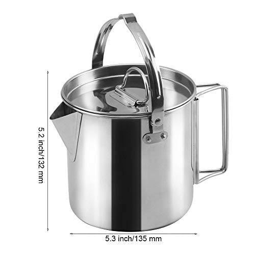 4b6bd0d0512 Amazon.com   MyLifeUNIT Outdoor Stainless Steel Camping Kettle ...