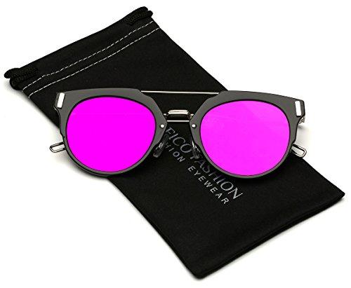 Chameleon Flat Lens Horn Rimmed Cat Eye - Cheap 2017 Trendy Sunglasses