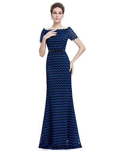 Ever Pretty - Vestido - Noche - para mujer Negro Y Azul