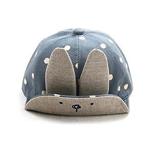 Tinksky Baby Boy Girl Kid Toddler Infant Sun Hat Peaked Baseball Beret Cap (Blue)