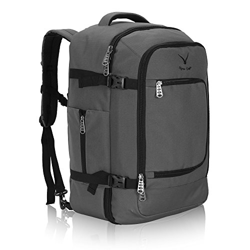 Hynes Eagle Travel Backpack 40L Flight Approved Carry on Backpack Grey 2017