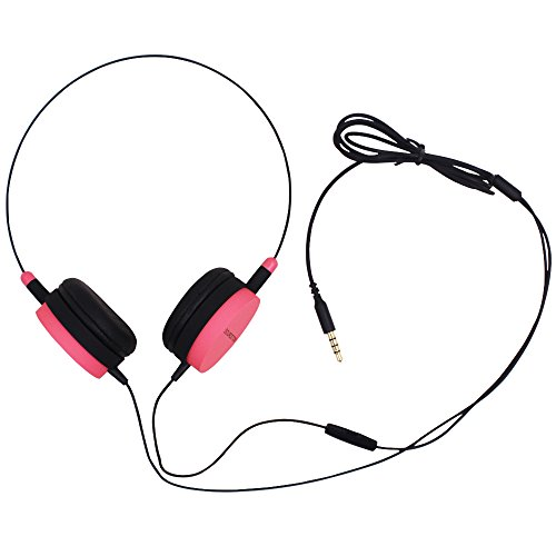 SOURCETON ST-30 Superb Sound Wired Headphone with Microphone, 1.2m / 3.9 FT Long Cord Lightweight 3.5mm Headset for Laptop, Desktop, Skype, Phone, Call Center, Xbox, PSP