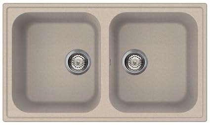 SMEG Lavello LZ862AV 2 Vasche Dimensioni 86 x 50 cm Colore Avena ...