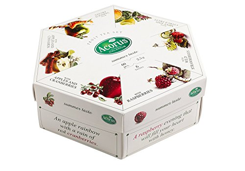 ACORUS Summer Taste - natural Fruit Tea Set of six different flavours (60 tea bags)