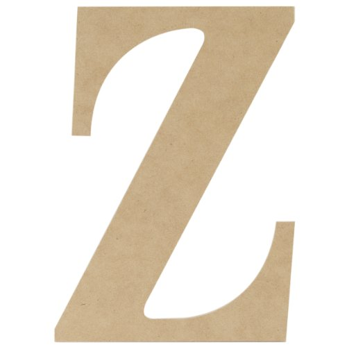 MPI MDF Classic Font Wood Letters and Numbers, 9.5-Inch, Letter (Letter Z Crafts)