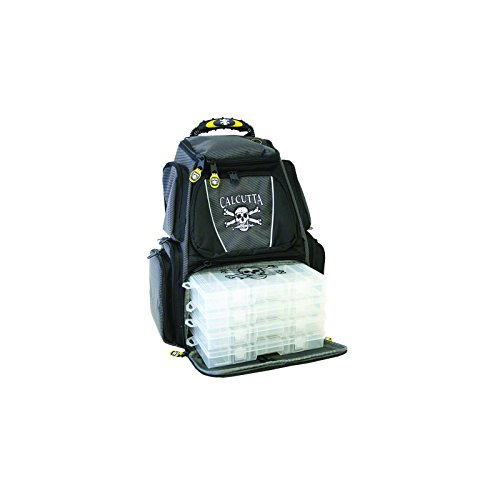 Calcutta CT3000BP Black/Gray Framed Tackle Backpack 4 360 Trays
