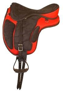 Down Under Saddle Supply Kimberley Ultra Light Treeless Saddle, Red, Large
