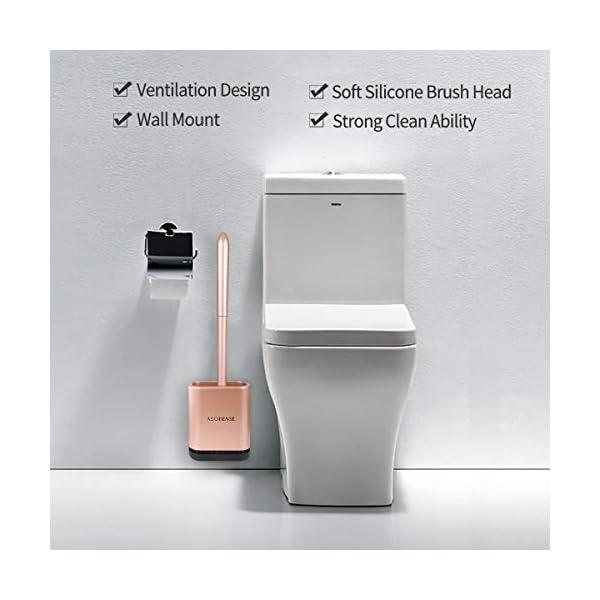 41DawYF%2BwDL ASOBEAGE Toilettenbürste,WC-Bürste und Behälter,Toilettenbürsten für Badezimmer mit schnell trocknendem Haltersatz…