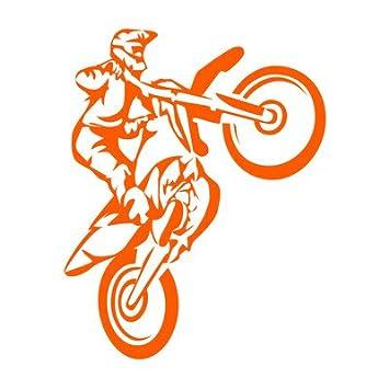 Motocross sticker decal adesivi moto decorazione adesivo prespaziato senza fondo in vinile colore nero lucido, 15 centimetri. Personalizza auto, moto, caschi, camion, furgoni, fuoristrada e 4x4, car wrapping e tuning, barche, valige, vetri, mobili e qualsi