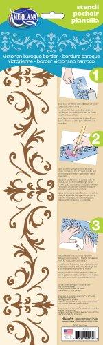 - DecoArt 6-Inch-by-18-Inch Stencil Home Decor Series, Victorian Baroque Border