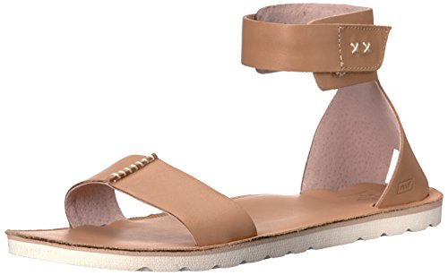 Reef Women's Voyage Hi Gladiator Sandal, Natural, 8 M (Leather Flat Sandals)