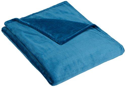 (Pinzon Velvet Plush Throw Blanket, Teal)