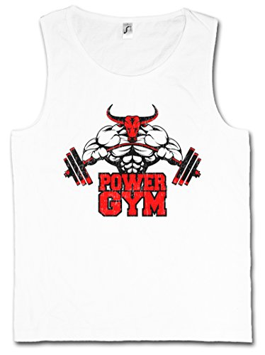 Urban Backwoods Power Gym Bull Vest Tank TOP – Fitness Sports Muscles Body Building Heavy Iron Training Hardcore Pumping White