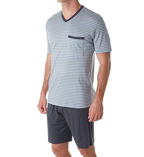 Calida Morris Cotton Pajama Short Set (41068) XL/Passat Grey (Calida Pajamas Cotton)