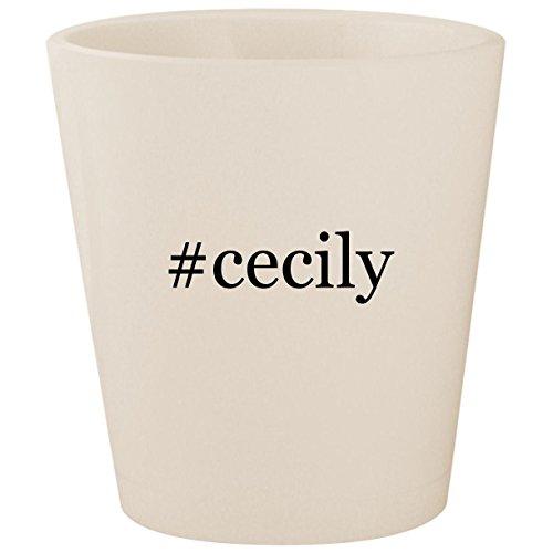 #cecily - White Hashtag Ceramic 1.5oz Shot Glass