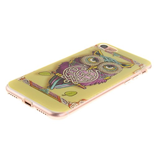 iPhone 7 Cover , YIGA Gufo TPU Case Custodia per Apple iPhone 7 4.7