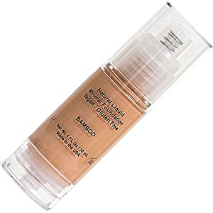 Neutral Liquid Mineral Foundation Best Cosmetics Formula For Young to Older Mature Women with Full Skin Coverage, Pump to Complete Beauty to Cover and Achieve The Flawless Look - Bamboo