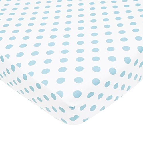 TL Care 100% Natural Cotton Percale Fitted Crib Sheet for St