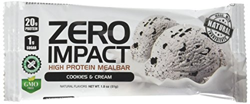 - VPX Zero Impact High Protein Mealbar, Cookies & Cream, 12 Count