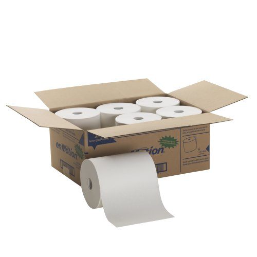 Georgia-Pacific 894-60 Enmotion High Capacity Touchless Towel (Roll of 6), 800' Length x 10'' With, White by Georgia-Pacific