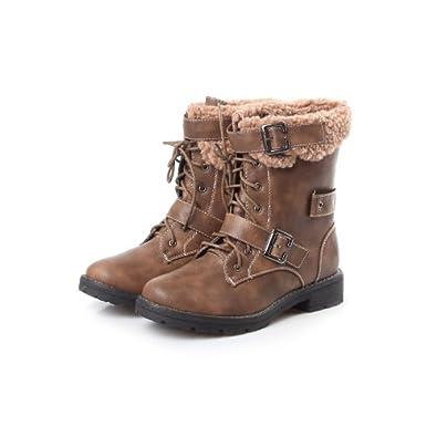 Amazon.com | Reneeze ABBY-03 Women's Winter Combat Boots- Khaki ...